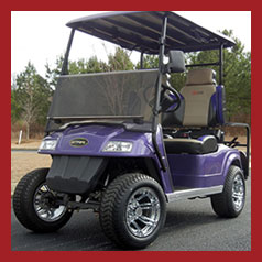 purple-golf-cart